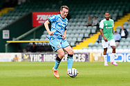 Regan Hendry (21) of Forest Green Rovers on the attack during the Pre-Season Friendly match between Yeovil Town and Forest Green Rovers at Huish Park, Yeovil, England on 31 July 2021.
