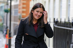 © Licensed to London News Pictures. 15/01/2020. London, UK. Labour Party leadership candidate LISA NANDY arrives at Royal Society of Arts, Manufactures and Commerce (RSA) in central London to speak to its members about Britain's international role following the UK's departure from the European Union on 31 January 2020, as part of her bid to for Leader of the Labour Party. Photo credit: Dinendra Haria/LNP