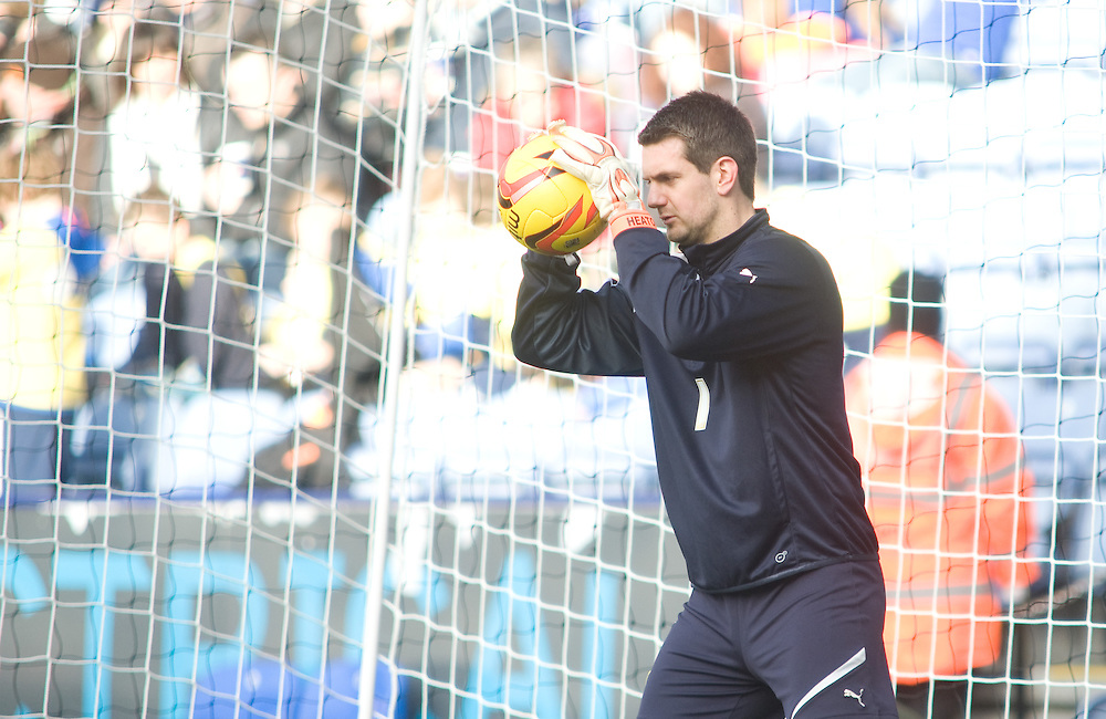 Burnley's Thomas Heaton during the pre-match warm-up <br /> <br /> Photo by Chris Vaughan/CameraSport<br /> <br /> Football - The Football League Sky Bet Championship - Leicester City v Burnley - Saturday 14th December 2013 - King Power Stadium - Leicester<br /> <br /> © CameraSport - 43 Linden Ave. Countesthorpe. Leicester. England. LE8 5PG - Tel: +44 (0) 116 277 4147 - admin@camerasport.com - www.camerasport.com