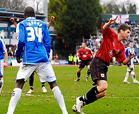 Photo: Alan Crowhurst.<br />Brighton & Hove Albion v Bristol City. Coca Cola League 1. 24/02/2007. Bristol's Phil Jevons celebrates his goal.