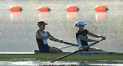 Caversham, Reading, GBR W2-, BOW NATASHA HOWARD, AND ALISON KNOWLES, GB Rowing Team Training at Redgrave Pinsent Lake, Engand [Credit Peter Spurrier/Intersport Images]  [Mandatory Credit, Peter Spurier/ Intersport Images]. , Rowing course: GB Rowing Training Complex, Redgrave Pinsent Lake, Caversham, Reading
