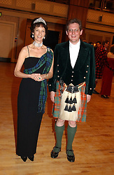 IONA, DUCHESS OF ARGYLL and VISCOUNT DUPPLIN at the annual Royal Caledonian Ball in aid of The Royal Caledonian Ball Trust held at The Grosvenor House Hotel, Park Lane, London W1 on 28th April 2005.<br /><br />NON EXCLUSIVE - WORLD RIGHTS
