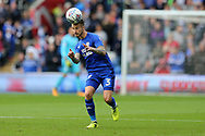 Joe Bennett of Cardiff city in action. EFL Skybet championship match, Cardiff city v Derby County at the Cardiff city stadium in Cardiff, South Wales on Saturday 30th September 2017.<br /> pic by Andrew Orchard, Andrew Orchard sports photography.