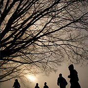 Winter runners at Stanley Park in Vancouver, British Columbia.  (Leica 240 MP 21 mm Summilux)