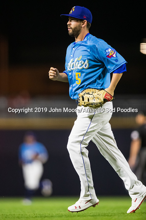 Amarillo Sod Poodles infielder Peter Van Gansen (5) against the Tulsa Drillers during the Texas League Championship on Tuesday, Sept. 10, 2019, at HODGETOWN in Amarillo, Texas. [Photo by John Moore/Amarillo Sod Poodles]