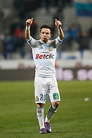 FOOTBALL - FRENCH CHAMPIONSHIP 2011/2012 - L1 - OLYMPIQUE DE MARSEILLE v LILLE OSC - 15/01/2012 - PHOTO PHILIPPE LAURENSON / DPPI - MATHIEU VALBUENA (OM) AT THE END OF THE MATCH