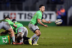 Danny Care of Harlequins passes the bal - Mandatory byline: Patrick Khachfe/JMP - 07966 386802 - 10/01/2020 - RUGBY UNION - The Recreation Ground - Bath, England - Bath Rugby v Harlequins - Heineken Champions Cup