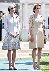 The Duchess of Cambridge (left) and Queen Mathilde of Belgium at Tyne Cot Commonwealth War Graves Cemetery in Ypres, Belgium, at a commemoration ceremony to mark the centenary of Passchendaele.