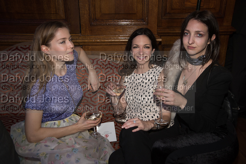 ANNINA VON PFUEL; CELIA WEINSTOCK; TISH WEINSTOCK, The Brown's Hotel Summer Party hosted by Sir Rocco Forte and Olga Polizzi, Brown's Hotel. Albermarle St. London. 14 May 2015