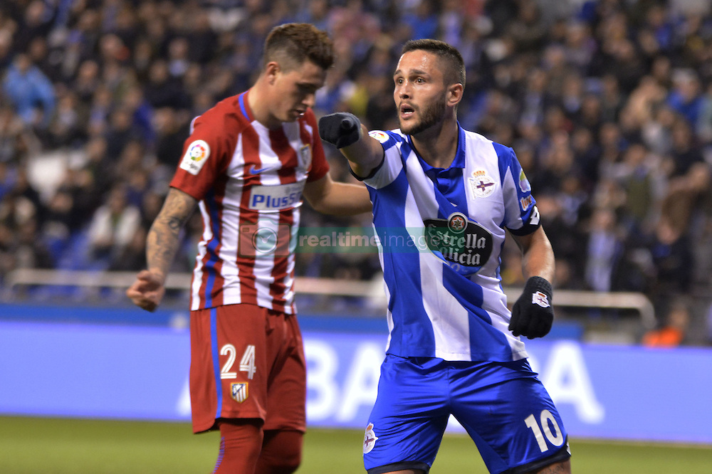 March 2, 2017 - La Coruna, Spain - Andone. La Liga Santander Matchday 25. Riazor Stadium, La Coruna, Spain. March 02, 2017. (Credit Image: © Monica Arcay Carro/VW Pics via ZUMA Wire/ZUMAPRESS.com)