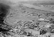 """Ackroyd 05088-1""""SP&S Railroad. aerials of Guilds Lake area. General Motors, Montgomery Ward. March 30, 1954"""""""