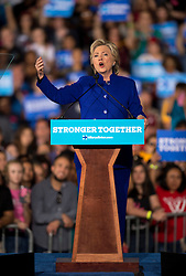 Nov. 02, 2016 - Tempe, Arizona, U.S. -  With six days remaining until the presidential election, HILLARY CLINTON campaigns at Arizona State University.(Credit Image: © Brian Cahn via ZUMA Wire)