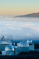 An array of spectrophotometers at the Mauna Loa Observatory, Hilo, Hawaii.