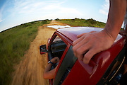 Riding back in a pickup from a kiteboarding adventure - South Africa