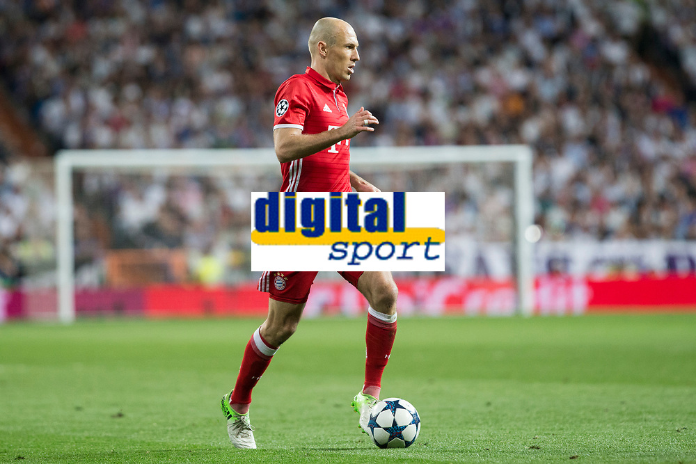 Arjen Robben of FC Bayern Munchen during the match of Champions League between Real Madrid and FC Bayern Munchen at Santiago Bernabeu Stadium  in Madrid, Spain. April 18, 2017. (ALTERPHOTOS)