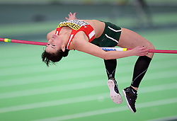 Gyorgyi Zsivoczky-Farkas of Hungary competes in the Women's Pentathlon High Jump during day two of the IAAF World Indoor Championships at Oregon Convention Center in Portland, Oregon, the United States, on March 18, 2016. EXPA Pictures © 2016, PhotoCredit: EXPA/ Photoshot/ Yin Bogu<br /> <br /> *****ATTENTION - for AUT, SLO, CRO, SRB, BIH, MAZ, SUI only*****