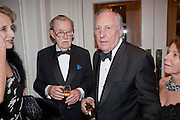 SIR ALAN WHICKER; SIR FREDERICK FORSYTH, 80th anniversary gala dinner for the FoylesÕ Literary Lunch. Ballroom. Grosvenor House Hotel. Park Lane. London. 21 October 2010. -DO NOT ARCHIVE-© Copyright Photograph by Dafydd Jones. 248 Clapham Rd. London SW9 0PZ. Tel 0207 820 0771. www.dafjones.com.<br /> SIR ALAN WHICKER; SIR FREDERICK FORSYTH, 80th anniversary gala dinner for the Foyles' Literary Lunch. Ballroom. Grosvenor House Hotel. Park Lane. London. 21 October 2010. -DO NOT ARCHIVE-© Copyright Photograph by Dafydd Jones. 248 Clapham Rd. London SW9 0PZ. Tel 0207 820 0771. www.dafjones.com.