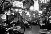 deLay630321-12. Kon-Tiki restaurant at Sheraton Hotel, for NW Natural Gas ad. March 21, 1963 (Sheraton, 1000 NE Multnomah, Lloyd Center)