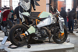 Ronin Motors (Denver, CO) Ronin #1 at the One Show motorcycle show in Portland, OR. February 13, 2016. ©2016 Michael Lichter