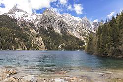 THEMENBILD - der Antholzer See, auch Untersee genannt, ist ein Bergsee am Ende des Antholzer Tals in der italienischen Provinz Südtirol. Nahe der Grenze zu Österreich am Staller Sattel., aufgenommen am 21. Mai 2019, Antholz, Italien // Lake Antholz, also called Untersee, is a mountain lake at the end of the Antholz Valley in the Italian province of South Tyrol. Near the border to Austria at Staller Sattel on 2019/05/21, Antholz, Italy. EXPA Pictures © 2019, PhotoCredit: EXPA/ Stefanie Oberhauser