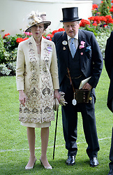 Anne, Princess Royal and Andrew Parker Bowles during Ladies Day, during day three of the 2015 Royal Ascot Meeting at Ascot Racecourse, Berkshire. (Mandatory Credit: DOUG PETERS/ EMPICS Entertainment)