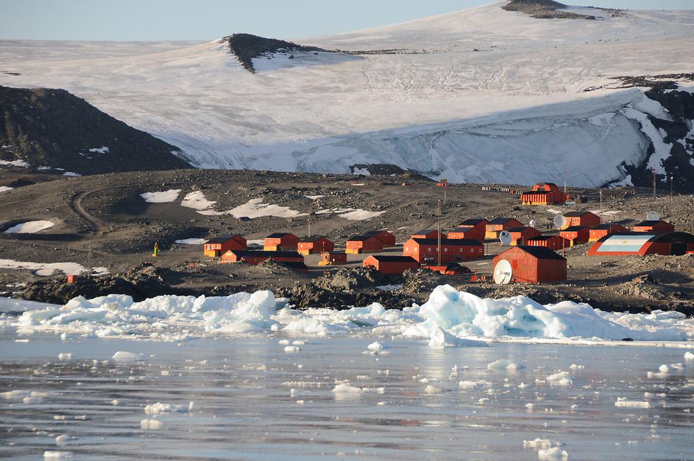 Esperanza Base, Base Esperanza,  the permanent, all year-round Argentinian research station in Hope Bay. Hope Bay,  Trinity Peninsula, Graham Land, Antarctic Peninsula, Antarctica. 02Mar16