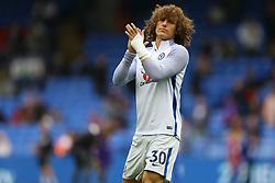 David Luiz of Chelsea applauds the fans during the warm up - Mandatory by-line: Jason Brown/JMP - 14/10/2017 - FOOTBALL - Selhurst Park - London, England - Crystal Palace v Chelsea - Premier League