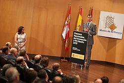 01.07.2014, Museo de la Ciencia, Valladolid, ESP, König Philipp VI von Spanien und Königin Letizia von Spanien, besuchen die Preisverleihung Innovation und Design // King Felipe VI of Spain and Queen Letizia of Spain attend the 2013 'Innovation and design' awards ceremony at Museo de la Ciencia in Valladolid, Spain on 2014/07/01. EXPA Pictures © 2014, PhotoCredit: EXPA/ Alterphotos/ Victor Blanco<br /> <br /> *****ATTENTION - OUT of ESP, SUI*****