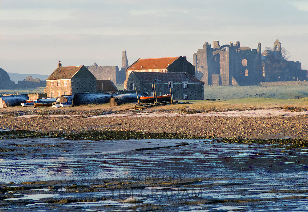 The Holy Island of Lindisfarne and Lindisfarne Priory one of the most important centres of early Christianity in Anglo-Saxon England