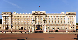 File photo dated 2/7/2009 of a general view of Buckingham Palace in central London. Scotland Yard has said that a 41-year-old man was arrested after scaling a perimeter wall at the palace Wednesday night