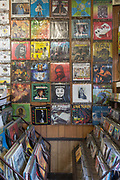 Classic reggae vinyl for sale at one of South London's longest standing record shops, Supertone Records in Brixton on the 12th April 2018 in South London, United Kingdom.