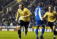 Photo: Gareth Davies.<br />Reading v Everton. The Barclays Premiership. 23/12/2006.<br />Everton's James McFadden (L) celebrates after scoring to make it 2-0 Everton.