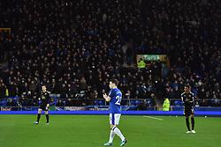 Everton's Seamus Coleman applauds the fans