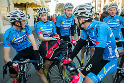 Michael Gogl, winner  Gregor Muhllberger (2L), Felix Grosschartner and other cyclists of Team Felbermayr Simplon Wels Team (AUT) after the UCI Class 1.2 professional race 2nd Grand Prix Izola, on March 1, 2015 in Izola / Isola, Slovenia. Photo by Vid Ponikvar / Sportida