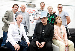 Boy George <br /> <br /> announcing the come back of the Boy George musical 'Taboo' at Brixton Club House in September 2012 <br /> <br /> press conference <br /> 26th June 2012 <br /> <br /> Paul Baker who is reprising the role of Philip Salon <br /> <br /> Mark Davies Markham <br /> <br /> Mike Nicholls<br /> <br /> Christopher Renshaw<br /> <br /> Frank Thomposon<br /> <br /> Kevan Frost <br /> <br /> Boy George<br /> <br /> Christine Bateman<br /> <br /> Photograph by Elliott Franks