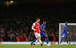 Dani Ceballos of Arsenal passes the ball - Mandatory by-line: Arron Gent/JMP - 27/02/2020 - FOOTBALL - Emirates Stadium - London, England - Arsenal v Olympiacos - UEFA Europa League Round of 32 second leg