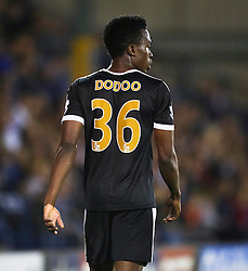 Joe Dodoo of Leicester City - Mandatory byline: Matt McNulty/JMP - 07966386802 - 25/08/2015 - FOOTBALL - Gigg Lane -Bury,England - Bury v Leicester City - Capital One Cup - Second Round