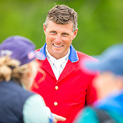 Boyd Martin during the show jumping phase at the 2019 Land Rover Kentucky Three-Day Event presented by MARS EQUESTRIAN in Lexington, Kentucky.