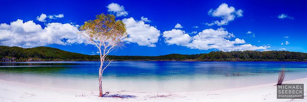 Beautiful Lake Mackenzie on Fraser Island.<br /> <br /> Code: HAQR0002<br /> <br /> Limited Edition Print