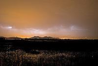 Storm on lake Skadar on Vranjina, Montenegro