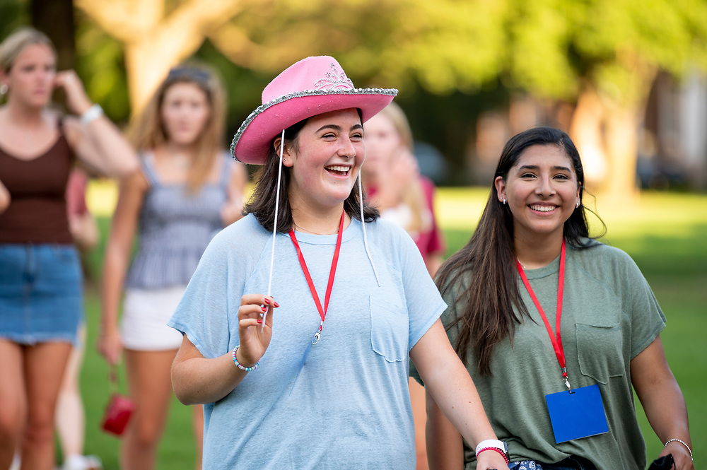 First year students attend Stampede's Serve Your City and learn about local volunteer opportunities, Friday, August 20, 2021 in Moody Coliseum on the SMU Campus.