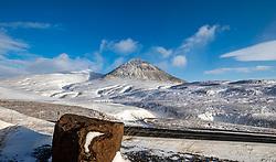 THEMENBILD - der Berg Baulusandur, Vestfjaroeavegur Borgarbyggoe aufgenommen am 25. Oktober 2019 in Island // the mountain Baulusandur, Vestfjaroeavegur Borgarbyggoe, Iceland on 2019/10/25. EXPA Pictures © 2019, PhotoCredit: EXPA/ Peter Rinderer