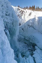 THEMENBILD - Tannforsen (grösster Wasserfall Schwedens), aufgenommen am Freitag, 16. März 2018. Die alpinen Ski- Weltmeisterschaften 2019 finden von 05. bis 17. Februar in Aare /Schweden statt // Tannforsen (largest waterfall in Sweden), pictured on Tuesday, March 13, 2018. The Alpine Skiing World Championships 2019 will take place from 05 to 17 February in Aare. Sweden on 2017/03/16. EXPA Pictures © 2018, PhotoCredit: EXPA/ Johann Groder