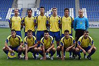 Fotball<br /> Nederland<br /> Foto: ProShots/Digitalsport<br /> NORWAY ONLY<br /> <br /> hapoel tel aviv - nk domzale 10-08-2006, seizoen 2006-2007.  uefacup wedstrijd.<br /> team nk domzale lagbilde
