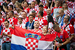 July 11, 2018 - Moscow, Russia - 180711 Fans of Croatia prior to the FIFA World Cup semi final match between Croatia and England on July 11, 2018 in Moscow..Photo: Petter Arvidson / BILDBYRÃ…N / kod PA / 92085 (Credit Image: © Petter Arvidson/Bildbyran via ZUMA Press)