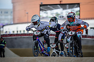 #77 (SAKAKIBARA Kai) AUS and #8 (VAN DER BURG Dave) NED at Round 6 of the 2019 UCI BMX Supercross World Cup in Saint-Quentin-En-Yvelines, France