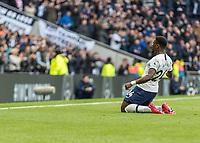 Football - 2019 / 2020 Premier League - Tottenham Hotspur vs. Wolverhampton Wanderers<br /> <br /> Serge Aurier (Tottenham FC) celebrates after scoring at The Tottenham Hotspur Stadium.<br /> <br /> COLORSPORT/DANIEL BEARHAM