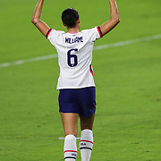ORLANDO, FL - JANUARY 22:  Lynn Williams #6 of United States celebrates after she scores a goal against Columbia at Exploria Stadium on January 22, 2021 in Orlando, Florida. (Photo by Alex Menendez/Getty Images) *** Local Caption *** Lynn Williams