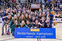 ROTTERDAM  -  Rotterdam MA1 en Pinoke JA1 winnen de Nationale titel.  finale NK  zaalhockey Pinoke JA1-Kampong JA1 (5-4).   COPYRIGHT  KOEN SUYK