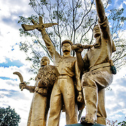 A statue in Vieng Xai, a Pathet Lao stronghold during the Vietnam War.